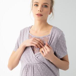 Ночная рубашка с секретом кормления PREGNANT