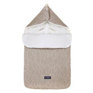 Спальный мешок для коляски или авто кресла Beige leaves